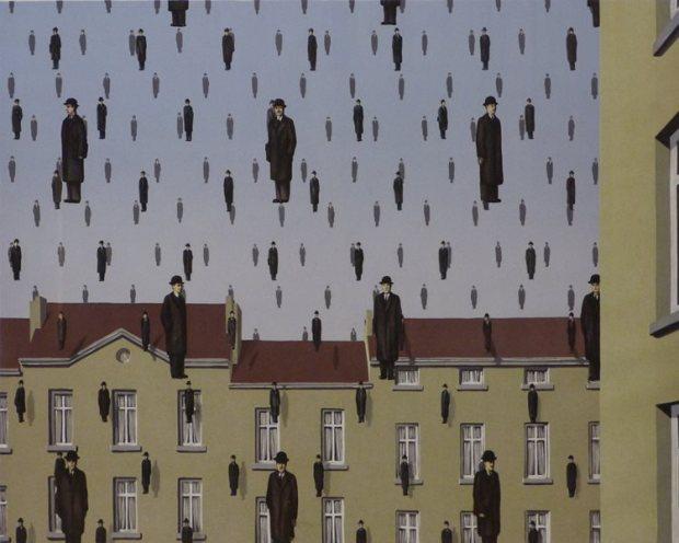 Sala Rene Magritte - Golconde - Litografia - 58 x 78 cms - 1953