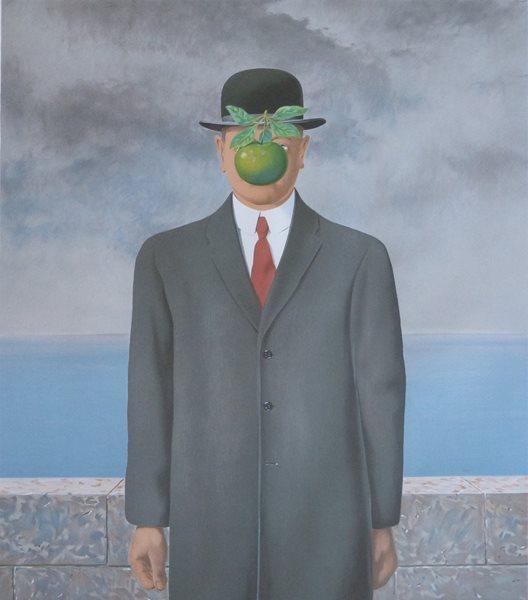 Sala Rene Magritte - Le fils de lhomme - Litografia - 78 x 59 cms - 1964