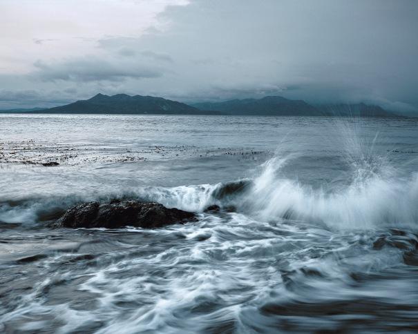 """""""Patagonie, histoires du bout du monde""""/Editions Solar 2004 mots clés : paysage/mer/nature/mouvement/bleu"""