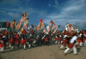 MEXICO. 1977. San Juan de Chamala, state of Chiapas. During the Festival of Purification.
