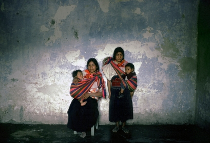 MEXICO. 1974. San Juan de Chamula, state of Chiapas. Tzotzil indian women with infants.